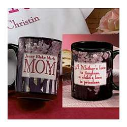 Mom With Kids Names Mug