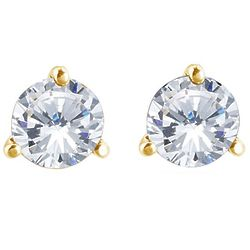 Build Your Own White Diamond Studs
