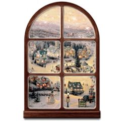 Thomas Kinkade Illuminated Musical Window Wall Decor