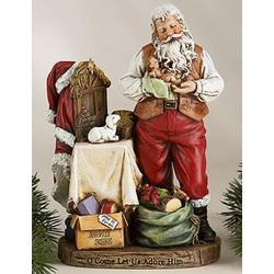 Santa with Baby Jesus Figurine