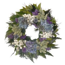 Blue Meadow Mist Hydrangea Wreath