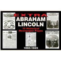 Abraham Lincoln Historic Newspaper Front Page Replica Set