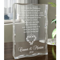 Personalized You and I During Christmas Time Plaque