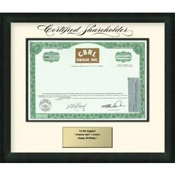 CBRL Group Stock Certificate