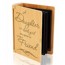 A Daughter and a Friend Wooden Album