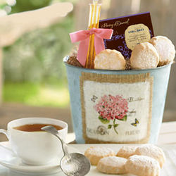 Mother's Day Tea and Cookies Gift Basket