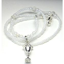 Glass Bead First Communion Necklace