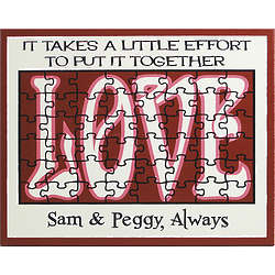 Personalized Love Puzzle Sign
