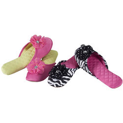 Satin Scuff Slippers