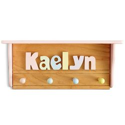 Personalized Pastel Colors Name Puzzle Coat Rack
