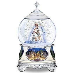 Thomas Kinkade Lighted Nativity Snowglobe with Narration