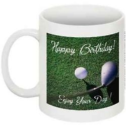 Happy Birthday Golf Coffee Mug