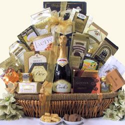 Grand Gourmet Cook's California Champagne Gift Basket
