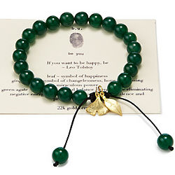 Inspirational Agate Bead Bracelet