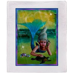 Merrow Mermaid Throw Blanket