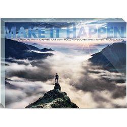 Make It Happen Mountain Motivational Art 5x7 Acrylic Prism Block