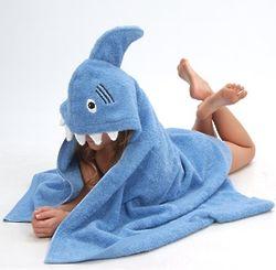 Blue Shark Hooded Towel
