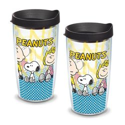 2 Peanuts Group 16 Oz. Tervis Tumblers with Lids