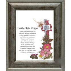 I Said A Little Prayer Framed Print