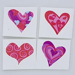 Glitter Heart Tattoos