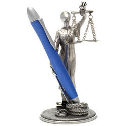 Jac Zagoory Pewter Scales of Justice Pen Holder