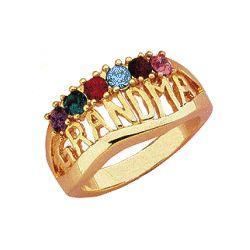Grandma Birthstone Ring