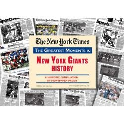 New York Giants History Newspaper