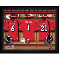 Personalized Texas Tech College Football Locker Room Framed Print