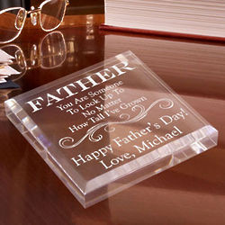 Personalized Someone To Look Up To Paperweight
