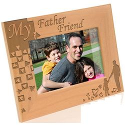 My Father My Friend Wooden Picture Frame