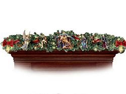 Thomas Kinkade Nativity Garland Set