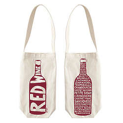 Single Wine Canvas Tote