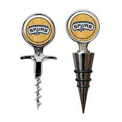 San Antonio Spurs Cork Screw and Wine Bottle Topper Set
