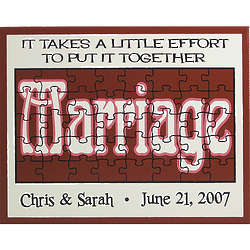Personalized Marriage Puzzle Sign