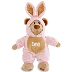 Personalized Pink Bunny Bear
