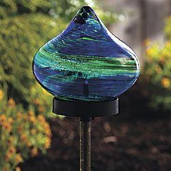 Solar Raindrop Garden Stake