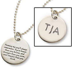 Engraved Promise Me Necklace