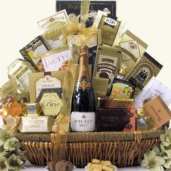 Grand Gourmet Bouvet Brut French Sparkling Wine Gift Basket
