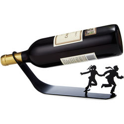 Grapes of Wrath Metal Wine Bottle Holder
