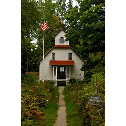 School House at Bailey's Harbor Door County Photographic Print