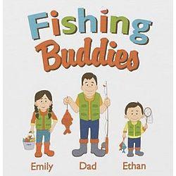 Personalized Fishing Buddies Adult T-Shirt