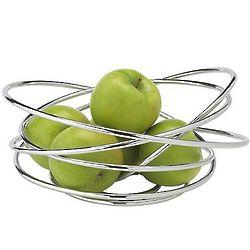 Chrome Fruit Loop Bowl