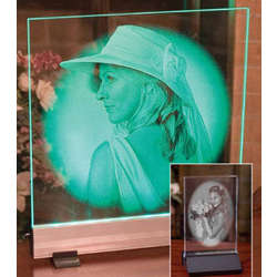 Personalized Etched Glass Photo Panel
