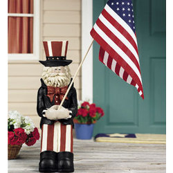 Uncle Sam Flag Holder