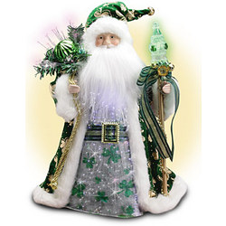Irish Santa Fiber Optic Table or Tree Topper