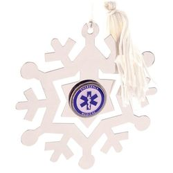 Engraved EMT Snowflake Christmas Ornament/Bookmark
