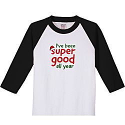 I've Been Super Good All Year Kids 3/4 Sleeve Jersey