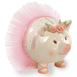 Giant Hand Painted Ballerina Piggy Bank