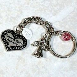 Engraved Angel Key Chain