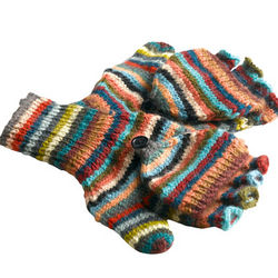 Hand-Knit Convertible Mittens